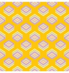 Multicolored geometric seamless rhombic pattern vector