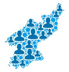 North korea map population demographics vector