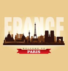 Paris france city skyline silhouette vector