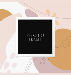 Photo frame on beautiful background vector