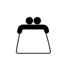 purse commerce shopping line image icon vector image