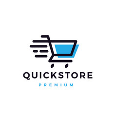 quick shop store logo icon vector image