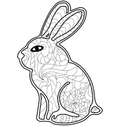 Rabbit Coloring for adults vector image