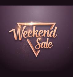 sale lettering rose gold effect vector image