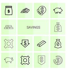 savings icons vector image