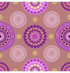 Seamless mandala pattern vector