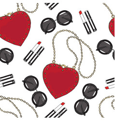 Seamless pattern of women s accessories vector