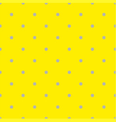 seamless pattern with grey polka dots on yellow vector image