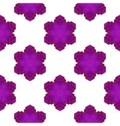 Seamless Pink Snowflake Pattern vector image