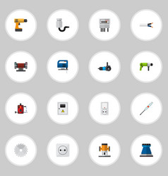 set of 16 editable electrical icons includes vector image