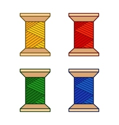Set of colored thread vector