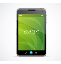 Smart Phone With green screen and text vector image