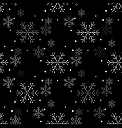 snowflake simple seamless pattern abstract vector image