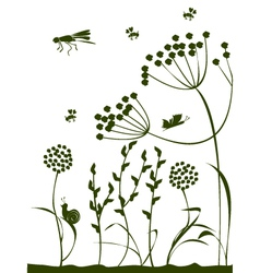 Summer natur vector image vector image
