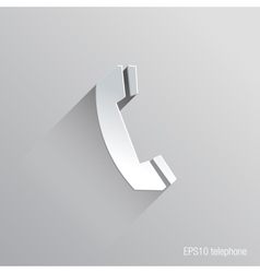 Telephone Flat Icon Design vector image