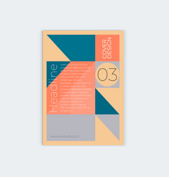 template design for vertical abstract cover a4 vector image