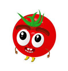 tomatoes cartoon vector image