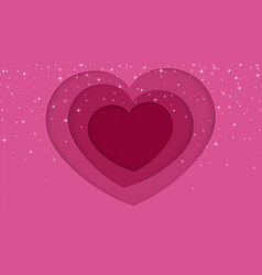 valentines day concept background paper cut heart vector image