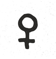 venus vintage label hand drawn sketch grunge vector image