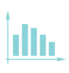 volatile business bar chart in coordinate system vector image