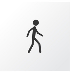 Walking icon symbol premium quality isolated vector