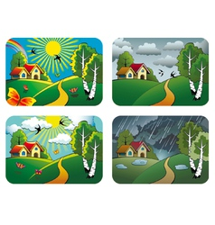 Weather landscapes vector image