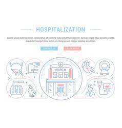 website banner and landing page hospitalization vector image