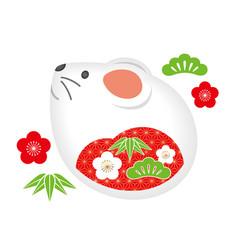 year rat zodiac symbol vector image