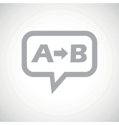 A to b grey message vector