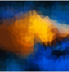 Abstract 2D mosaic multitriangle geometric vector image
