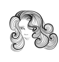 hairstyle retro vector image vector image