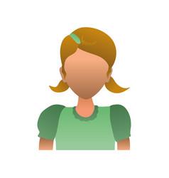 Kid child girl avatar faceless vector