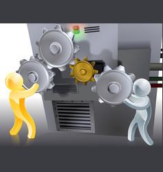 mascots setting machine vector image vector image