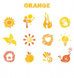 orange theme vector image