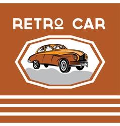 Retro car old vintage poster vector
