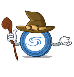 Witch syscoin mascot cartoon style vector