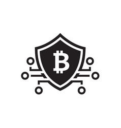 bitcoin crypto currency icon vector image vector image
