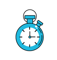 chronometer to know and meter the time vector image