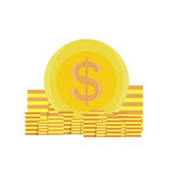 coins money gold design icon bank business vector image