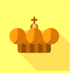 crown pope icon flat style vector image