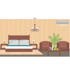 luxury hotel room interior east style with vector image vector image