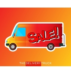 Sale bus isolated vector image vector image