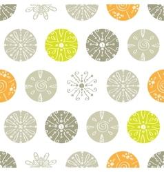 abstract gray and green polka dot seamless vector image vector image