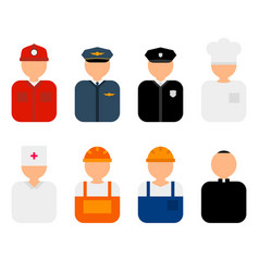 professions flat characters vector image
