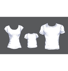 tshirts white vector image