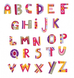 whimsical alphabet vector image