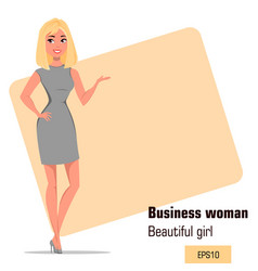 character beautiful business woman 04 vector image vector image