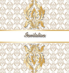 Classic royal gold ornamented vector