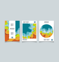 color design templates for a4 covers banners vector image