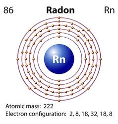Diagram representation of the element radon vector image vector image